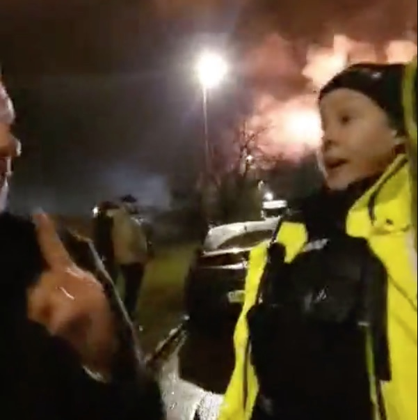 Drunk Reporters Obstruct Police at Andover Ocado Fire