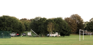 Andover Travellers set up camp on Roman Way Park