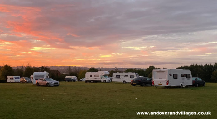 Travellers in Saxon Fields Andover, Hampshire, UK