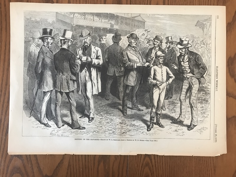 Betting appears in 1870